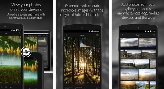 Adobe Photoshop Lightroom - Android App for the Curved Samsung Galaxy S6 Edge Plus