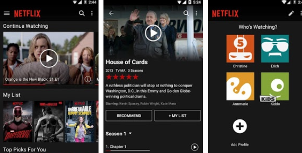 NetFlix Android App for the Curved Samsung Galaxy S6 Edge Plus