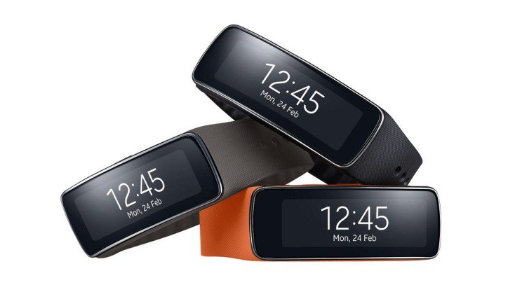Samsung Gear Fit Fitness tracking smartwatch